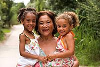 Little girls with grandmother