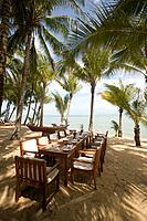 Beach restaurant of the Santiburi Dusit Resort, Mae Nam Beach, Hat Mae Nam, Ko Samui, Thailand