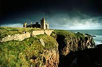 Slains castle ruins, Grampian, Aberdeenshire, Scotland, Great Britain