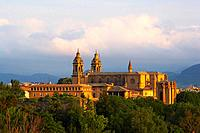 Cathedral Metropolitana in the morning light, Pamplona, Navarra, Spain