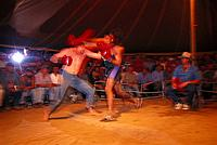 Fight, boxing event, Fred Brophy´s Boxing Troupe, Queensland, Australia