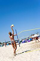 Beachvolleyball, Ahlbeck, Usedom, Baltic Sea, Mecklenburg_Western Pomerania, Germany