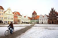 Marketplace, Greifswald, Mecklenburg_Vorpommern, Germany