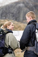 A couple orienteering
