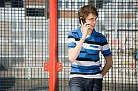 Teenage boy on cellphone
