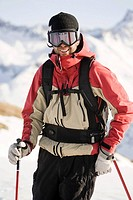Portrait of a male skier