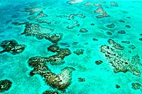 Belize Barrier Reef, Aerial view, Caribbean Sea