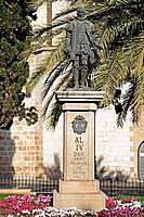 Monument, Gandia, Valencia, Costa del Azahar, Spain, Duc Sant Francesc de Borja