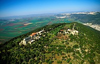 Mount Tabor Northern Israel Aerial View of Church of the Transfiguration _ Designed by Franciscan Architect Antonio Barluzzi & Completed in 1924