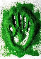 Handprint in colour sand (thumbnail)