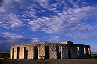Clouds over a monument, Stonehenge Memorial, Klickitat County, Washington State, USA