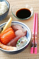 Sashimi for young girl
