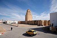 The great mosque, Sidi Oqbas mosque, in the Medina in Kairouan. One of the regions largest and most important. Medina, Saudi Arabia