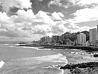 salvador waves breaking on the sea shore