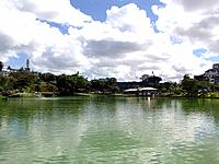salvador nobody swimming in the lake park