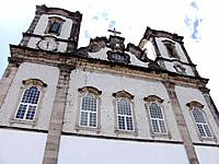 salvador old and historical relicious church facade