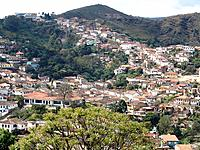 ouro preto mg aerial view of the city with green vegetation