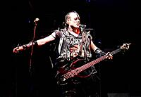 Santiago Chile 21/05/2008 Jerry Only singer and bassist of the band horror punk Misfits during a presentation at the stadium in Santiago Chile Victor ...