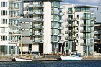 Modern apartment buildings in Helsingborg, Skåne, Sweden