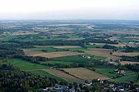 View over the plain in Kristianstad, Skåne, Sweden