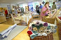Factory shop of handmade textiles