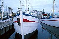 Boats in the harbour Norra Hamnen, Helsingborg, Skåne, Sweden