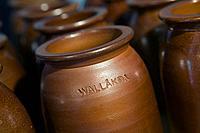 pots and urns from Wallåkra Stoneware Factory, Vallåkra, Skåne, Sweden
