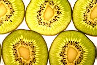 sliced pieces of citric kiwi fruit