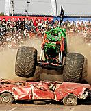 Santiago, Chile (26th April 2008). Monster Trucks show in Mall Plaza Oeste, Cerrillos Santiago