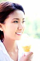 Woman who eats ice cream