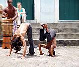 people practicing capoeira at bahia street