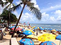 people resting at pernambuco beach shore