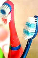 some toothbrushes for dental hygiene