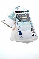 Five Euro banknotes, close up