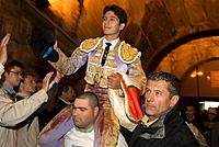 France, Gard, Nimes, French bullfighter Sebastien Castella during the Feria