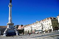 a portugal square with many doves and birds