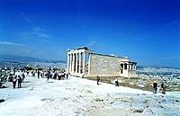 people visiting the greek ruins