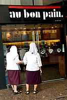 Nuns go for a good cup of coffee, Bangkok, Thailand