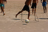 Men Playing Ball, Beach, Imbituba, Santa Catarina, Brazil