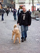 Man, Dog, Zurich, Swiss