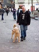 Man, Dog, Zurich, Swiss