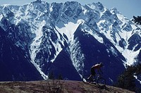 Mountain biker, Pemberton, B.C.