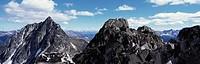 Climbers on Cerent Spire, Bauaboos Provincial Park, BC