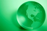 Green Colored Globe