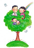 A family in a tree
