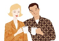 A couple having coffee together (thumbnail)