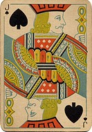 Jack of Spades vintage playing card