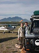 Couple on airfield
