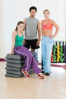 People in exercise studio