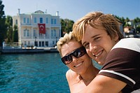 Young couple on holiday in istanbul